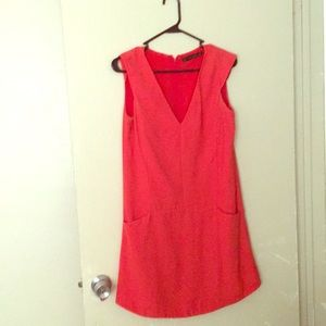 Zara sleeveless red evening gown